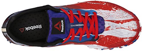 Reebok Women's All Terrain Super 2.0 USA Trail Running Shoe, Excellent Red/Team Dark Royal/White/Black, 8.5 M US -