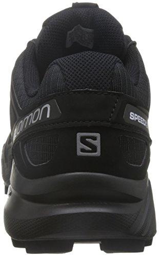 Salomon Men's Speedcross 4 Trail Runner, Black/Black/Black Metallic, 7 D US -