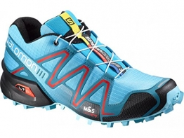 Salomon SpeedCross 3 Trail Running Shoe - Women's Azurin Blue/Fog Blue/Radiant Red, 11.0 -