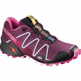 Salomon Women's Speedcross 3 Bordeaux/Hot Pink/Lotus Pink 11 B - Medium -