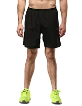 "SEEU Men's Running Shorts, 7"" 2-in-1 Shorts with Back Zip Pocket L -"