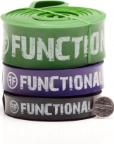 Set of 3 Functional Fitness Pull Up Bands - #3, #4, #5 - 30-250 lbs (14-113 kg) -