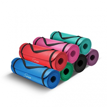 "sivan health and fitness exercise mat 1/2"" extra thick"