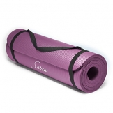 Sivan Health and Fitness 1/2-InchExtra Thick 71-Inch Long NBR Comfort Foam Yoga Mat for Exercise, Yoga, and Pilates (Purple) -