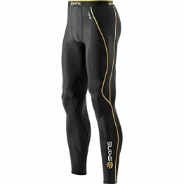 Skins A200 Men's Compression Long Tights, Extra Large, Black/Yellow -