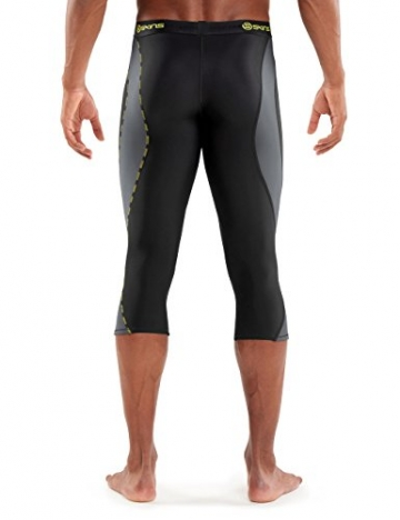 SKINS Mens Skins Dnamic Men's Thermal Compression 3/4 Tights, black/Pewter, Large -