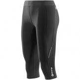 SKINS Women's Thermal Compression 3/4 Capri Tights, Black/Black, Small -