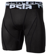 Tesla Men's Cool Dry Compression Baselayer Shorts Pants Capri Tights S17-BLKZ_X-Large -