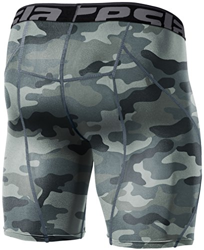 Tesla Men's Cool Dry Compression Baselayer Shorts Pants Capri Tights S17-CGYZ_Large -