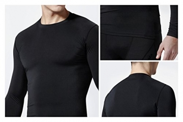 TM-R21-BB_X-Small j-S Tesla Men's Thermal Coldgear Compression Baselayer Long Sleeve T Shirts R21 -