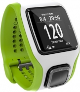 TomTom Runner Cardio GPS HR Watch - green/white, one size -