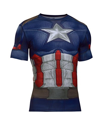 Under Armour Men's Alter Ego Captain America Compression Shirt Large -
