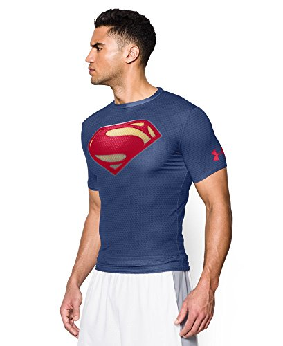 Under Armour Men's Alter Ego Short Sleeve Compression Shirt Large Midnight Navy -