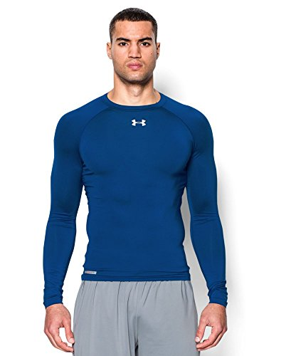 Under Armour Men's HeatGear Sonic Compression Long Sleeve Small Royal -