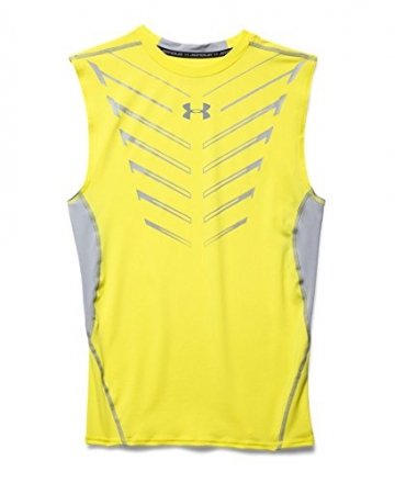 Under Armour Men's UA HeatGear Armour Exo Sleeveless Compression Shirt Small Sunbleached -