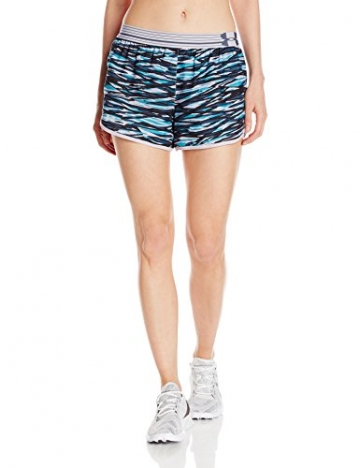 Under Armour Women's Printed Perfect Pace Short, Cloud Gray/Cloud Gray, Medium -