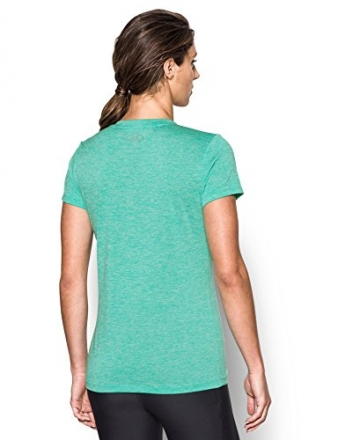 Under Armour Women's Tech Twist V-Neck, Absinthe Green (190), Small -