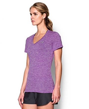 Under Armour Women's Tech Twist V-Neck, Mega Magenta (915), Small -