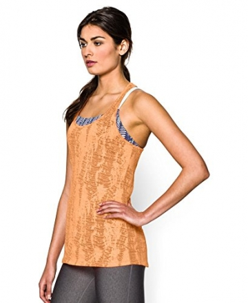 Under Armour Womens UA Charged Cotton® Tri-Blend Printed Tank Large Afterglow -