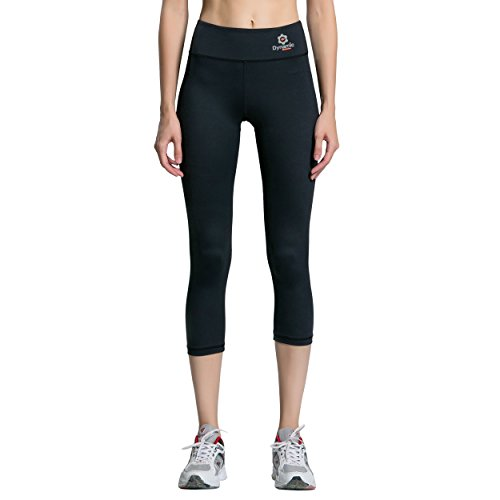 Women Compression Capri Pants - Leggings, Tights, Yoga, Gym (Small, Black) -