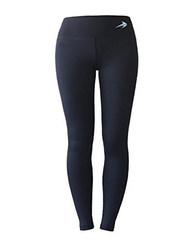 Women's Compression Pants (Black - M) Best Full Leggings Tights for Running, Yoga, Gym by CompressionZ -