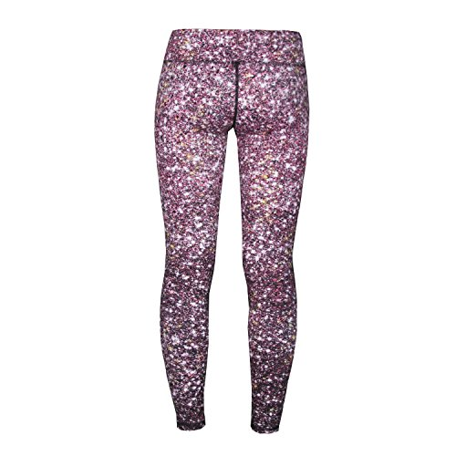 Women's Compression Pants (Galaxy Red - M) Best Full Leggings Tights for Running, Yoga, Gym by CompressionZ -