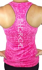 Women's Fierce Workout Burnout Racerback Tank Top S Pink -