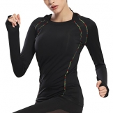 Women's Long Sleeve Active Running T-shirt with Thumb Hole -