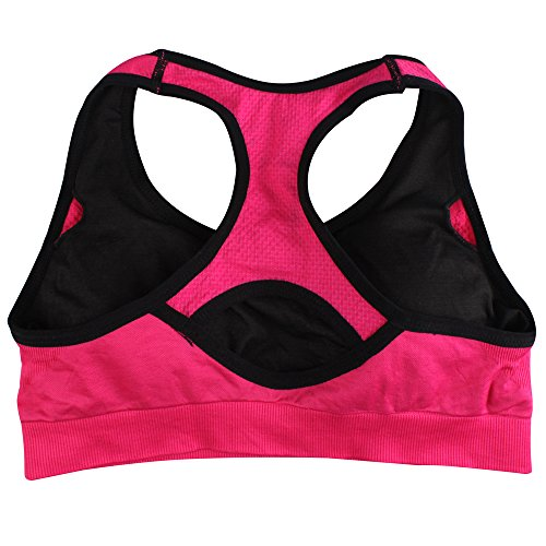 Womens Racerback Sports Bra Workout Yoga Bras with Soft Pads L Pack of 5 -