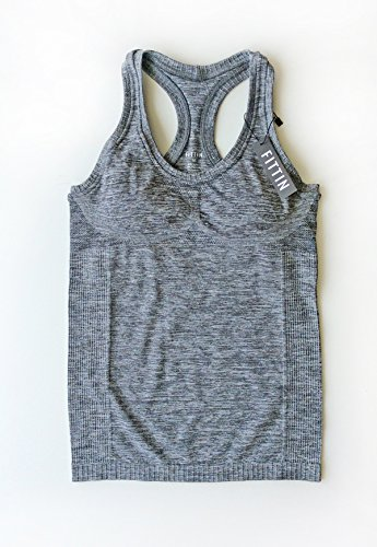 Women's Sports Yoga Fitness Racerback Sleeveless Tank Top Running Shirt Vest Grey Medium -