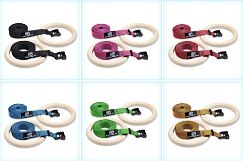 Wood Gymnastic Rings - Gym Rings, Fitness Rings, Exercise Rings, Workout Rings, Olympic Rings, Gymnast Rings, Gymnastics Rings -
