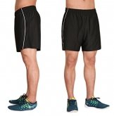 "WUAMBO Athletic Men's Running Training Short with Zipper Pocket Black Waist 28""-32"" -"