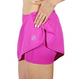 X31 Sports Running Skirt, Skort with Shorts and Zipper Pocket (Pink, Medium) -