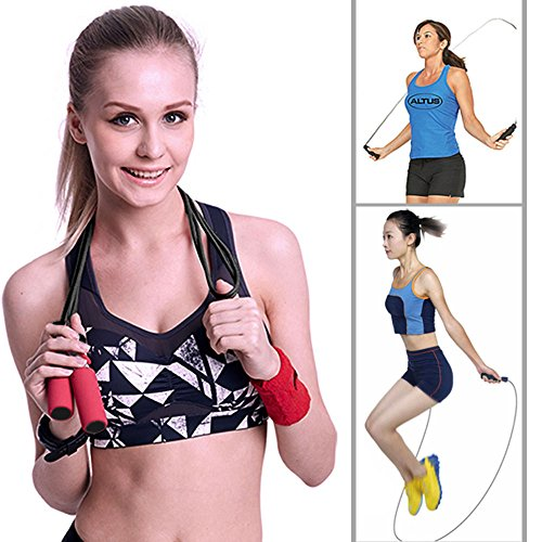 Ziyue Fitness Jump Rope Premium Speed Rope for Crossfit WOD, Boxing and Fitness (Black) -